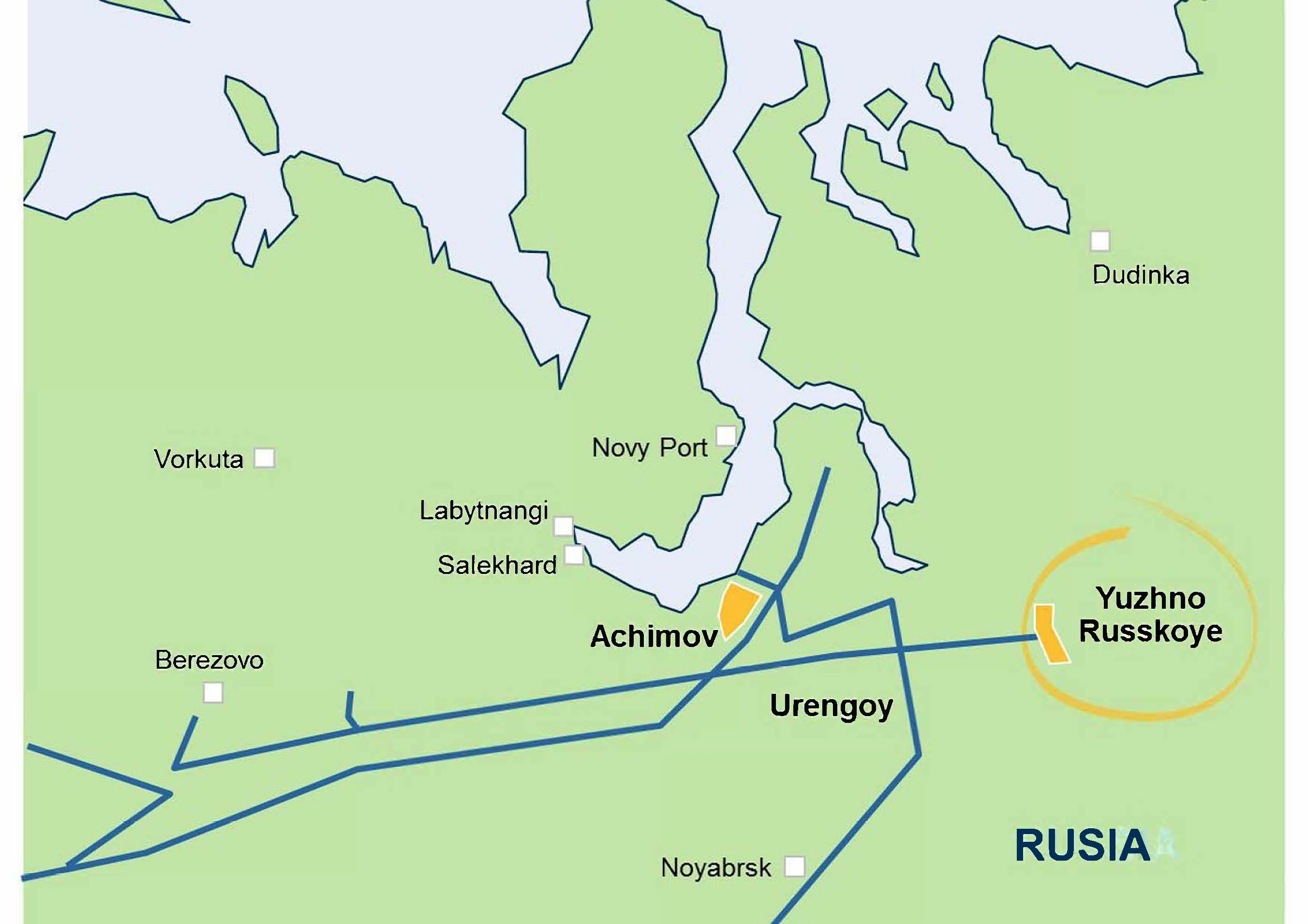 Map of Yuzhno Russkoye